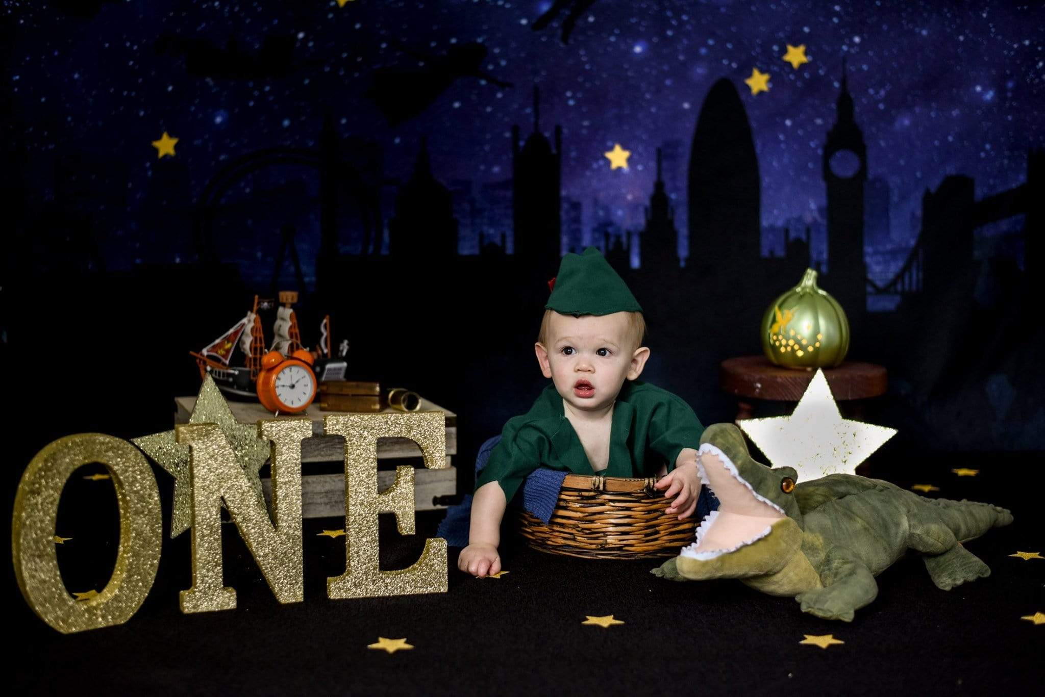 Load image into Gallery viewer, Katebackdrop£ºKate Night Sky Fairystyle Backdrop for Photography Designed By Amanda Moffatt