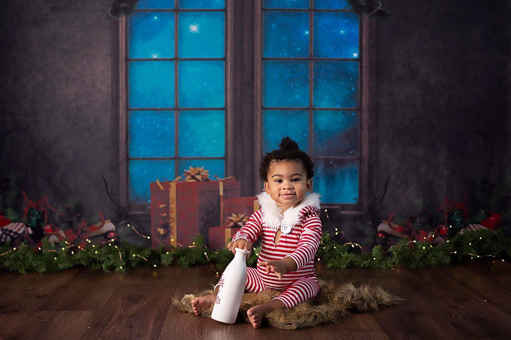 Katebackdrop£ºKate Christmas Gifts Decoration Window Backdrop for Photography Designed By Jerry_Sina