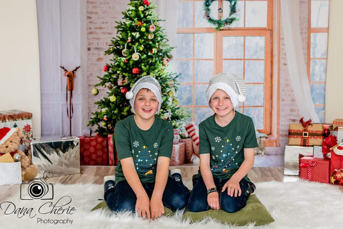 Katebackdrop£ºKate Christmas Gifts Room Decoration Window View Backdrop
