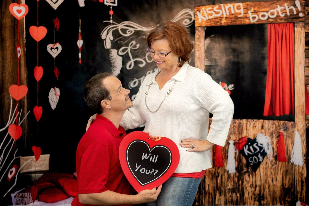 Katebackdrop£ºKate Kiss Booth Valentines Backdrop for Photography
