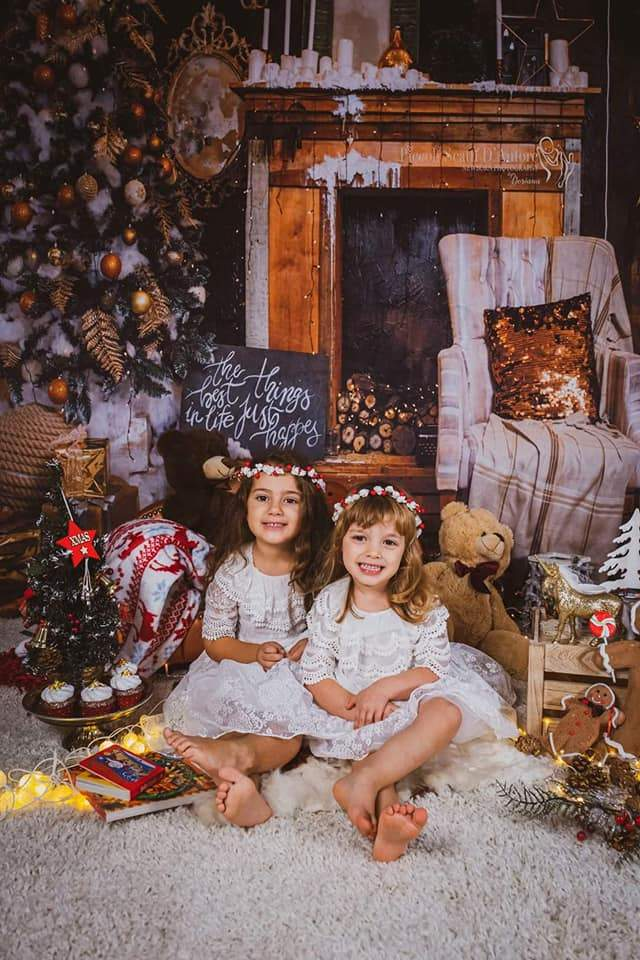 Load image into Gallery viewer, Katebackdrop£ºKate Vintage Christmas Backdrop for Family Photography