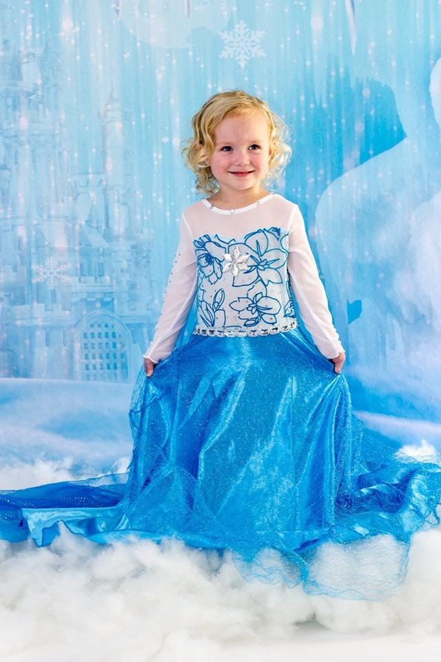 Kate Winter Ice Frozen Snow Castle/Christmas Backdrop Designed By Jerry_Sina