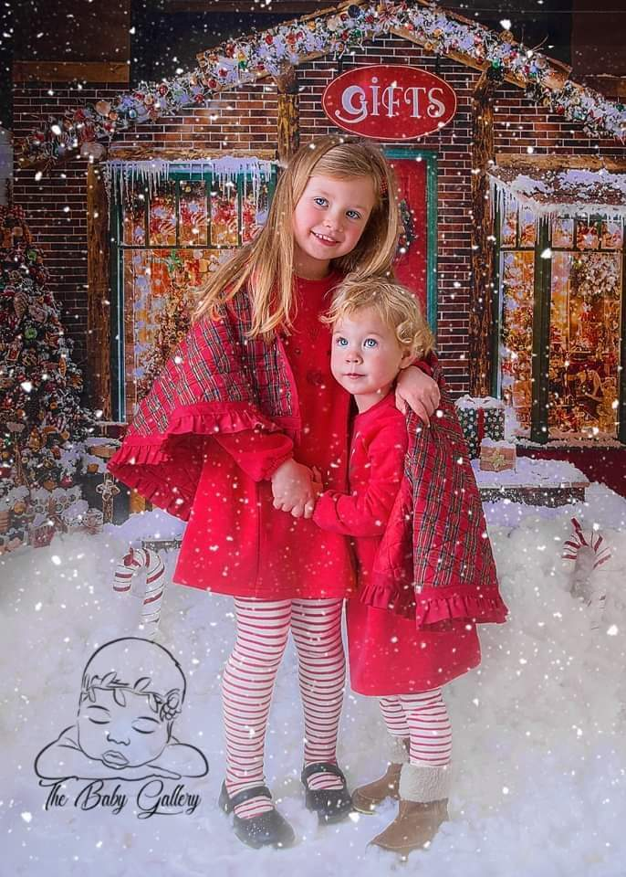 Load image into Gallery viewer, Katebackdrop£ºKate Christmas Giftshop Decorations Snow Backdrop for Photography