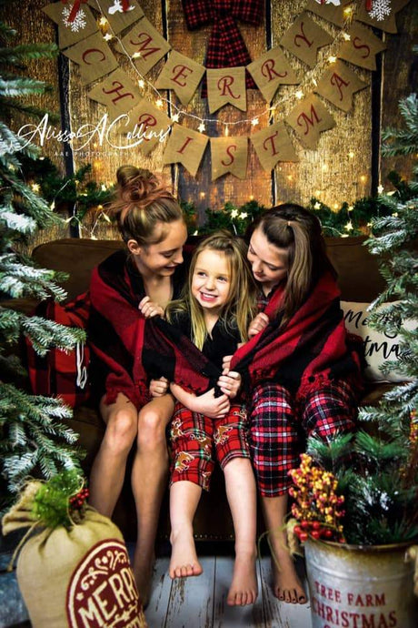 Katebackdrop£ºKate Merry Christmas Wooden Backdrop Designed By AAE Photography