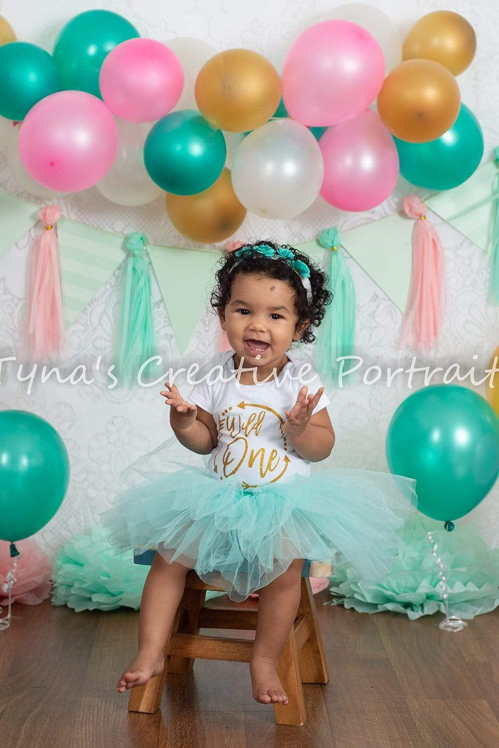 Load image into Gallery viewer, Katebackdrop£ºKate Minty Fresh Celebrations Backdrop for Children Photography Designed By Tyna Renner