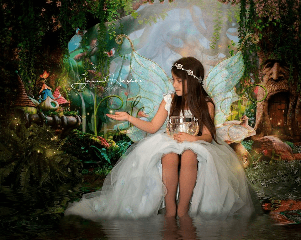 Kate Children Fairy Tale Wonderland Forest Mushrooms Backdrops