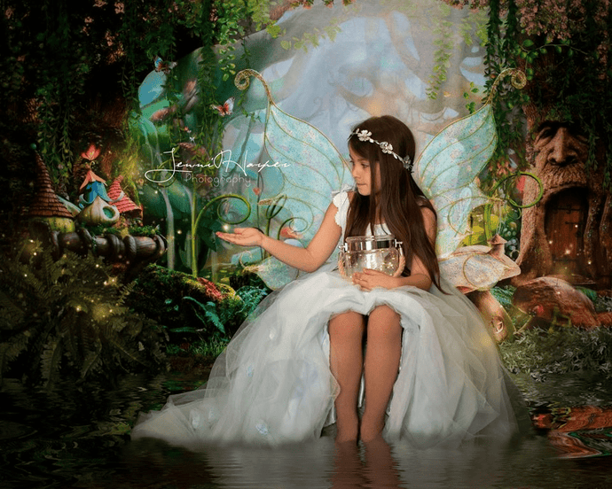 Katebackdrop:Kate Children Fairy Tale Wonderland Forest Mushrooms Backdrops