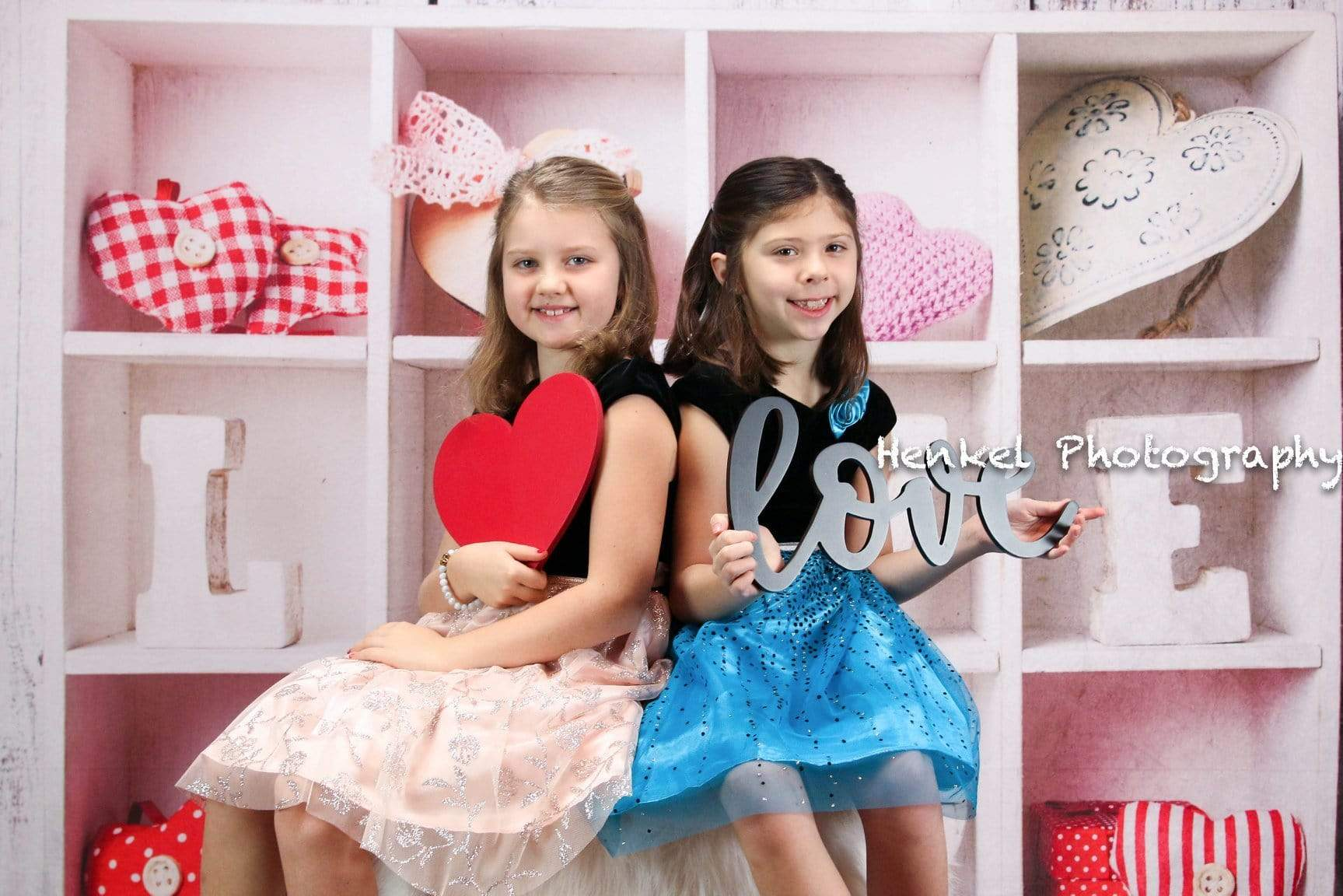 Load image into Gallery viewer, Kate Pink Heart With Love Valentine's Day Backdrop for Photography