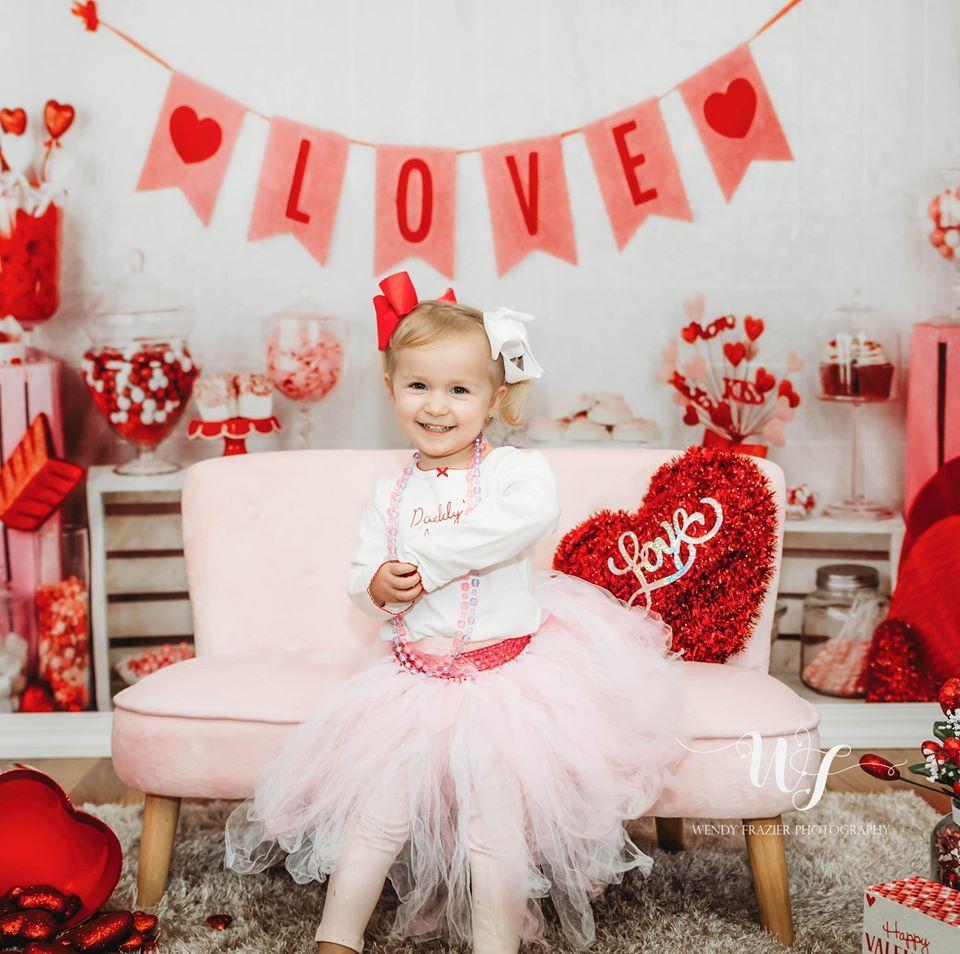 Load image into Gallery viewer, Kate Valentine Sweet Shoppe Backdrop designed by Arica Kirby