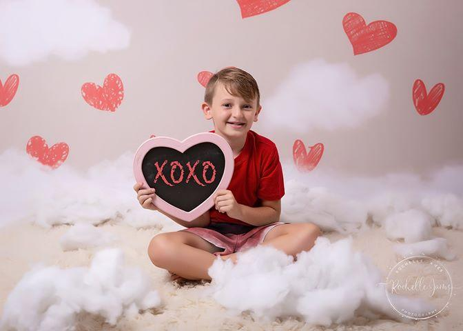 Kate Valentine's Day Red Hearts Backdrop Designed By Jerry_Sina