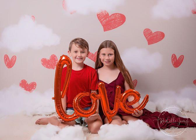 Load image into Gallery viewer, Kate Valentine's Day Red Hearts Backdrop Designed By Jerry_Sina