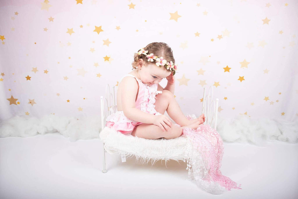 Katebackdrop£ºKate Golden Stars Pink Birthday Backdrop for Children Photography Designed by JFCC