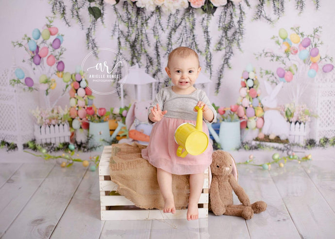 Katebackdrop£ºKate Easter with Rabbits Floral Backdrop for Photography