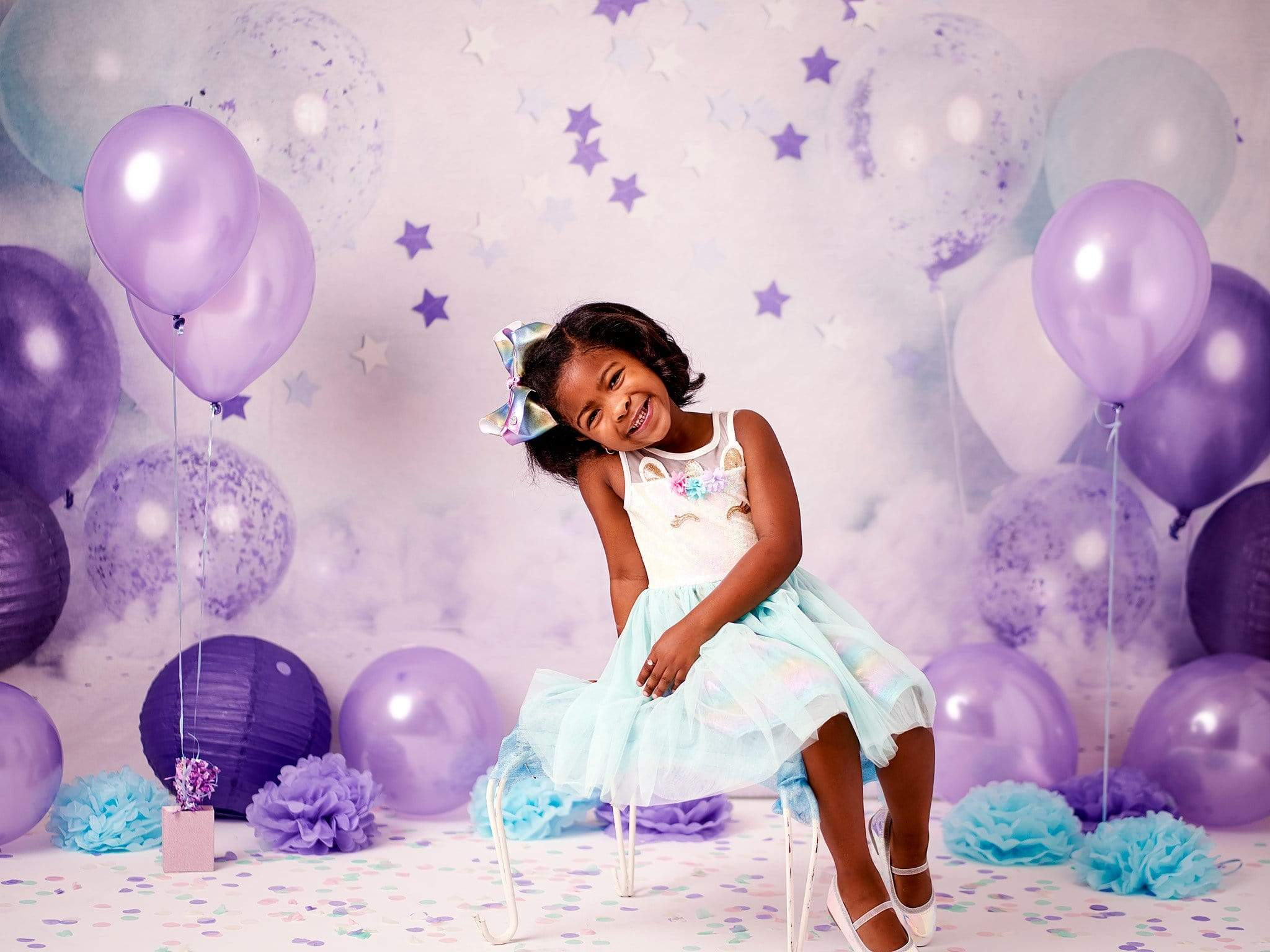 Load image into Gallery viewer, Katebackdrop:Kate Children Cake Smash Balloons Decoration Backdrop Designed By Rose Abbas