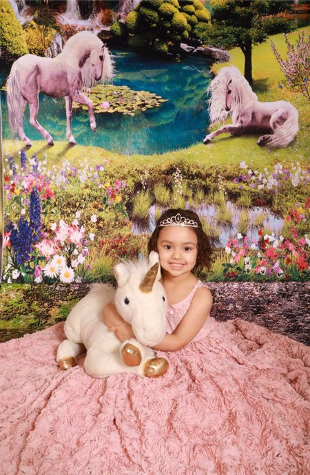 Katebackdrop:Kate Forest unicorn Backdrops for Birthday Rainbow dream