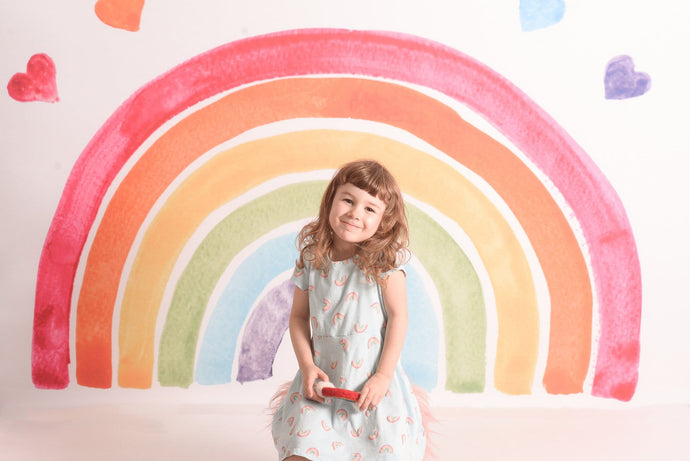 Kate Watercolor Rainbow Backdrop Designed by Mandy Ringe Photography