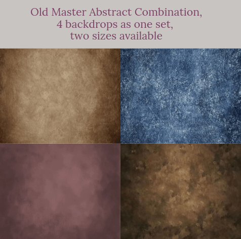 Old Master Abstract combination backdrops for photography( 4 backdrops in total )