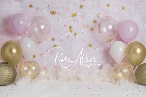 Kate Pink Balloons Stars Backdrop Designed By Rose Abbas