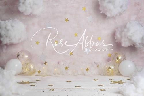 Kate Pink Clouds Stars Backdrop Designed By Rose Abbas
