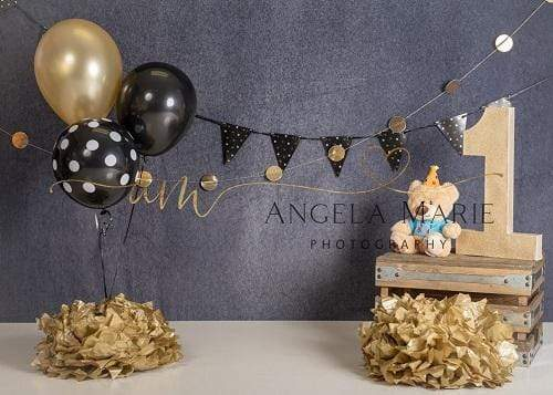 Katebackdrop:Kate 1st Birthday Cake Smash Balloons Decoration Backdrop Designed By Angela Marie Photography