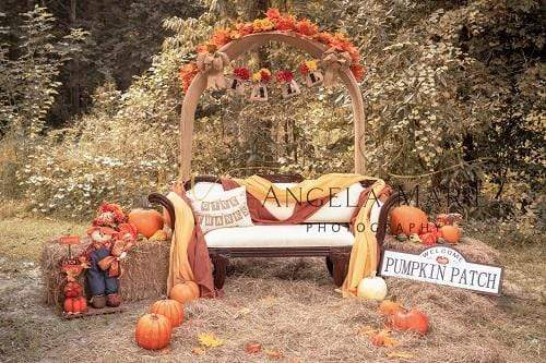 Kate Fall Thanksgiving Farm Pumpkins Backdrop Designed By Angela Marie Photography