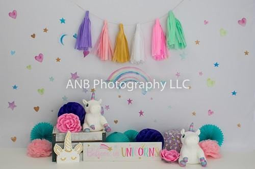 Kate Cake Smash Unicorn Backdrop Designed By Alisha Byrem