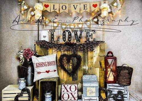 Katebackdrop:Kate Valentine's Day Love Backdrop Designed by AAE Photography