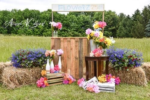 Load image into Gallery viewer, Kate Summer Backdrop Flower Stand Designed by AAE Photography