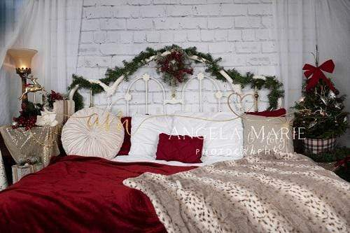 Katebackdrop:Kate Christmas Headboard Backdrop Designed By Angela Marie Photography