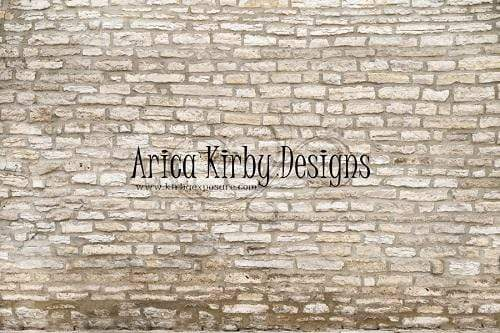 Katebackdrop:Kate White and Tan Brick Wall Backdrop Designed By Arica Kirby