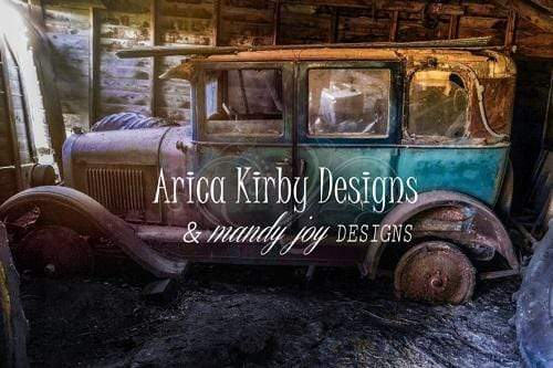 Katebackdrop:Kate Vintage Truck in Shed Backdrop Designed By Arica Kirby