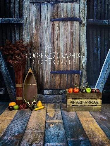Load image into Gallery viewer, Katebackdrop£ºKate Barn Door Harvest Wooden Backdrop Designed by Amanda Moffatt