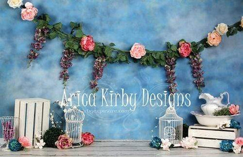 Kate 1st Birthday Floral Garden Backdrops Designed by Arica Kirby
