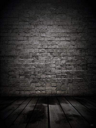Katebackdrop:Kate Black Brick with Wood Floor Backdrops Digital for Photography