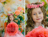 Katebackdrop:Kate Hand painted flower Yellow Background Photography Backdrop