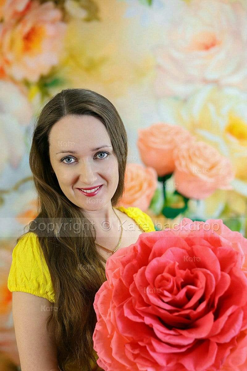 Load image into Gallery viewer, Katebackdrop:Kate Yellow Florals Background Photography Monther's Day Backdrop