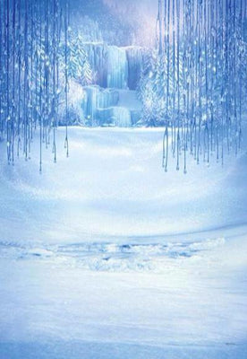 Kate Winter Snow freeze World Forest Christmas Backdrop