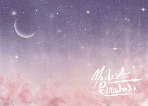 Katebackdrop:Kate Soft Celestial Night Backdrop Designed by Modest Brushes