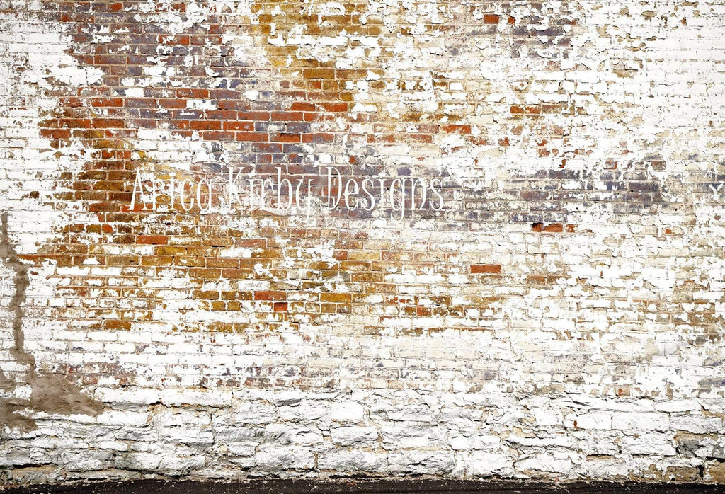 Katebackdrop£ºKate Crumbling White and Red Brick Wall Backdrops Designed by Arica Kirby
