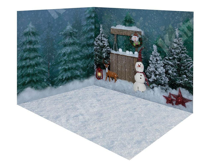 Kate Christmas Snow Forest Snowman Room Set