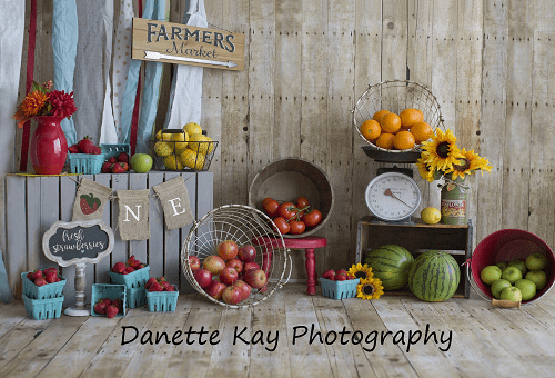 Katebackdrop£ºKate Summer Farmers Market Backdrop for Photography Designed by Danette Kay Photography