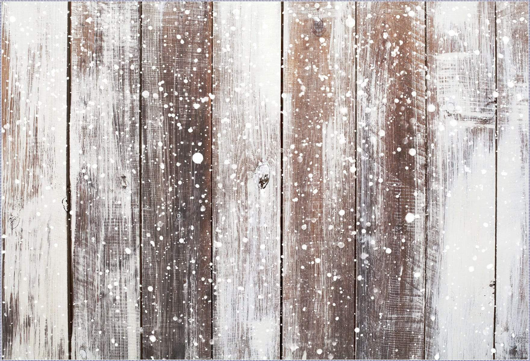 Load image into Gallery viewer, Katebackdrop¡êoKate Gray Snow wood rubber floor mat