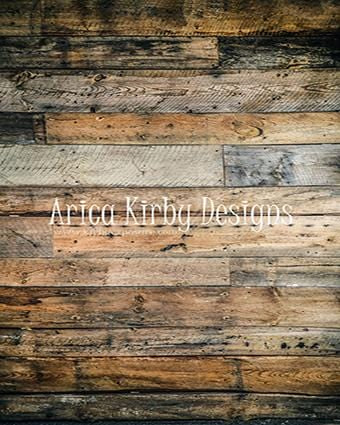 Kate Rustic Wood Dark Planks Rubber Floor Mat Designed by Arica Kirby
