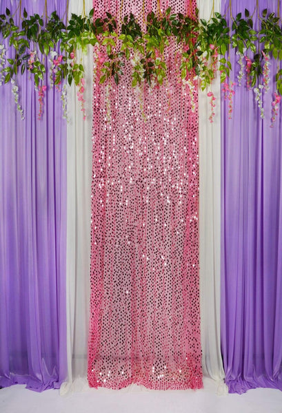 Buy Discount Kate Purple White Curtain With Pink Sequin