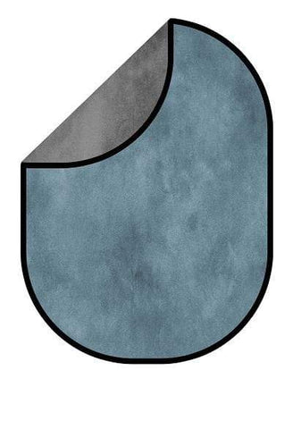 Kate Blue Gray Abstract Texture/ Gray Abstract Texture Collapsible Backdrop Photography 5X6.5ft(1.5x2m)