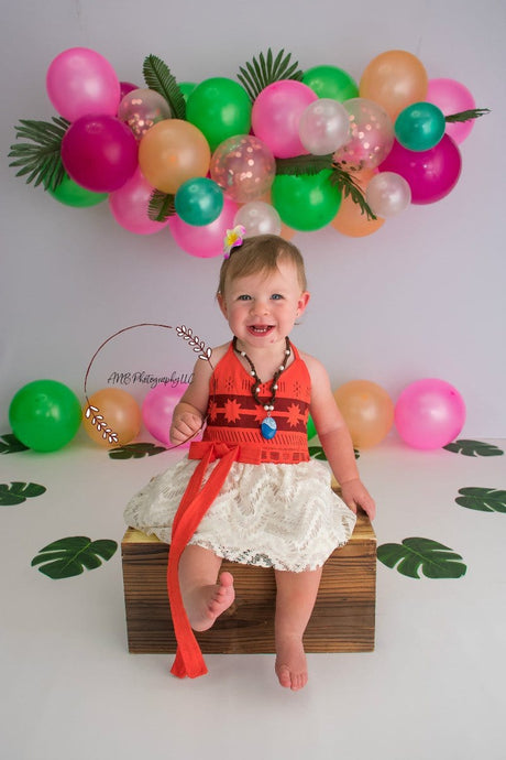 Kate Summer Backdrop Balloons Moana Theme Designed By Alisha Byrem