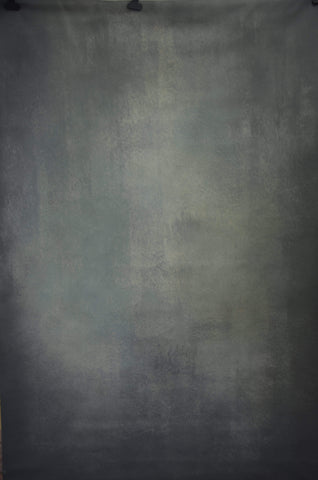 Kate Hand Painted Abstract Texture Dark Green and Black Backdrops