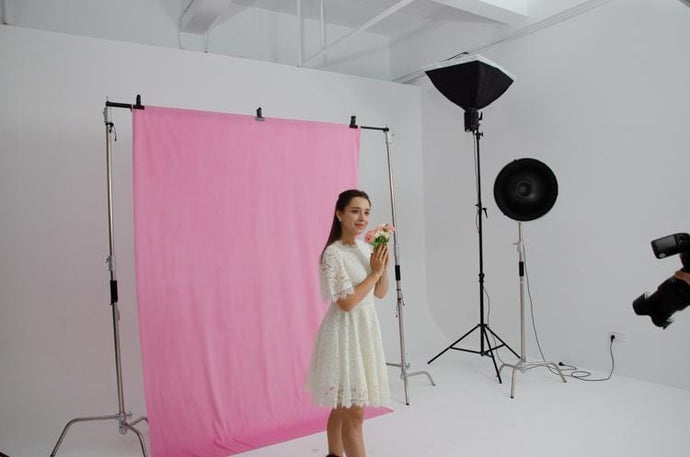 Kate Hot Sale 5x7ft Solid Pink Cloth Backdrop Portrait Photography