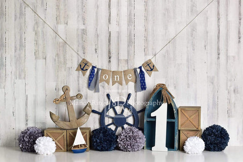 Kate Rudder Anchor Sailor Children Backdrop for Photography Designed by Mandy Ringe Photography