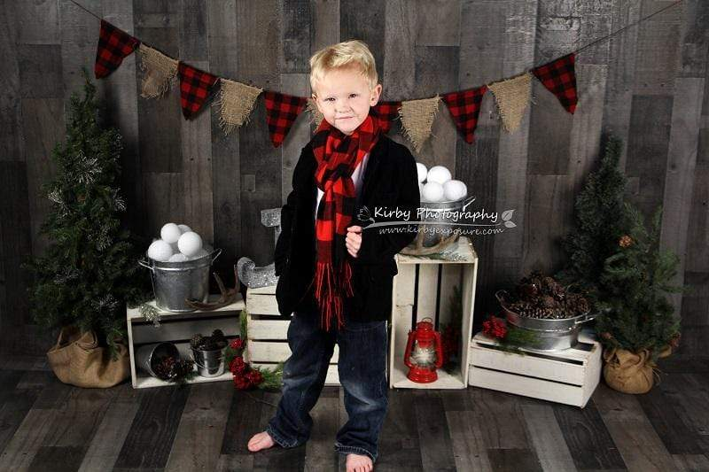Katebackdrop£ºKate Dreaming of a Plaid Christmas Backdrop designed by Arica Kirby